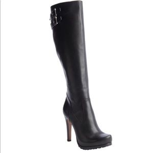Rachel Zoe black leather knee high boots. Size 8.5